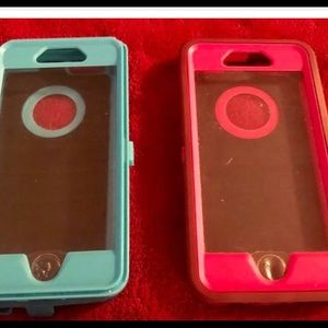 Two iPhone 6 and 6plus otter boxes